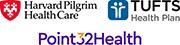 Point32Health HPHC Tufts logos